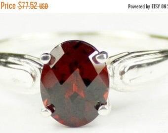 On Sale, 30% Off, Mozambique Garnet, 925 Sterling Silver Ring, SR058