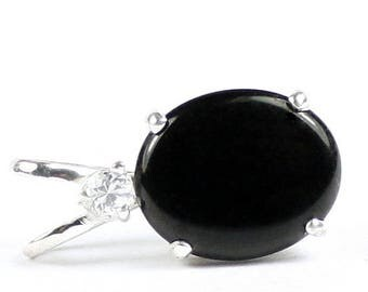 On Sale, 30% Off, Black Onyx, 925 Sterling Silver Pendant, SP022