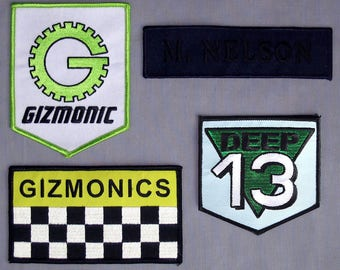 MST3K Gizmonic Deep 13 SOL Iron-On Patch Set (4) - Mystery Science Theater 3000