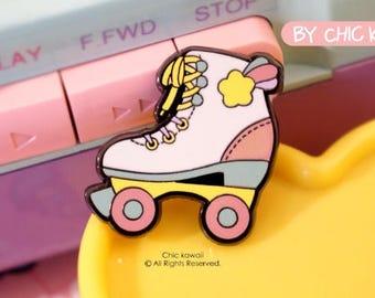 Enamel pin Roller skates pin kawaii colors 90s lovely and cute design