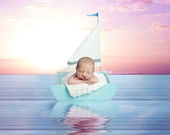 Newborn Sailboat Photography Prop