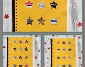 UK Music | Notebooks | YELLOW | Blank Books | Set of 3 | Gift Ideas | Party Favours | Back to School | Office Journal |
