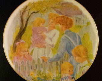 Vintage 1980 Mother's Day by Frances Hook Decorative Plate 3064 of 5000