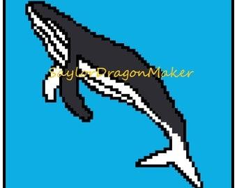Corner-To-Corner Crochet Humpback Whale Pattern For Blankets