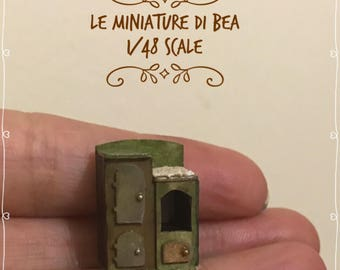 1/48 dollshouse victorian stove hand made in wood by Bea miniatures