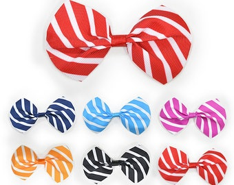 150 pieces ribbon of Stripes bow tie Finished product 6 mixed colors for HairBows supply Craft supply Gift wrapping