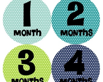 Monthly Baby Milestone Stickers Baby Boy Baby Shower Gift One-Piece Baby Stickers Monthly Baby Stickers Baby Month Sticker 196