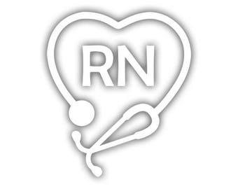 RN Stethoscope decal