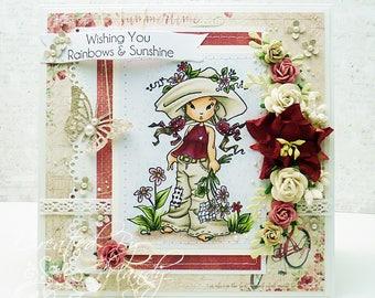 OOAK Sweet & Sassy Elizabeth Bell Handmade Card