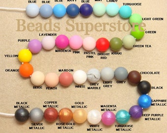 BULK SALE 15 mm Silicone Round Bead - Food Grade Teething Baby Bead- Teething Necklace Silicone Bead - 50 pcs