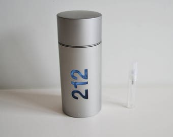 Carolina Herrera 212 Men Eau De Toilette 5 ml Glass Decant Atomizer Spray
