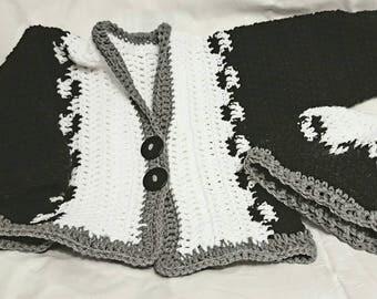 Black and white sweater set