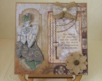Steampunk Birthday Card, for Wife, Daughter, Mum, Grandma, etc.