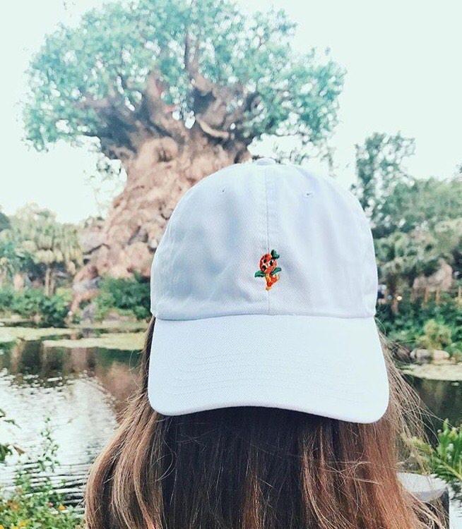 disneyland resort baseball cap minnie orange bird dad hat world land monogramming paris