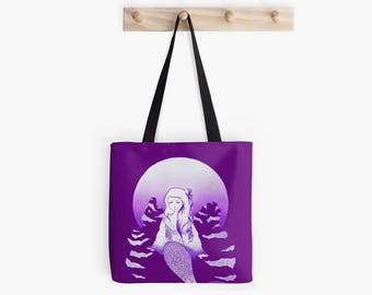 Full Moon Sereia Mermaid Tote Bag