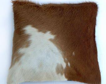 Natural Cowhide Luxurious Hair On Cushion/ Pillow Cover (15''x 15'') A24