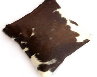 Natural Cowhide Luxurious Hair On Cushion/ Pillow Cover (15''x 15'') A97