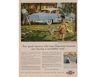 Vintage poster advertisement of a 1954 Chevrolet ---- 25
