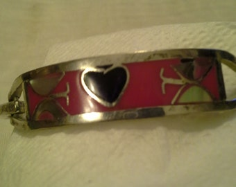 Stamped Youth Inlay Bracelet