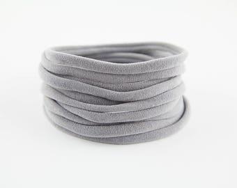 Nylon Headbands light grey Nylon Headband WHOLESALE Baby gray  Headband Wholesale Nylon Elastic Baby Headbands Bulk Soft Thin Supply