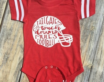 Tailgates and Touchdowns MULES Football Infant Bodysuit