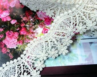 Floral Cotton Crochet Lace Trim 4.5cm Wide 1 yard #375