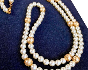 Swarovski Pearl Necklace Anastasia Once Upon A December-When Is December-handmade-Cosplay Anya