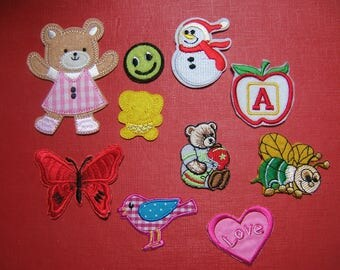 10 iron-on applique