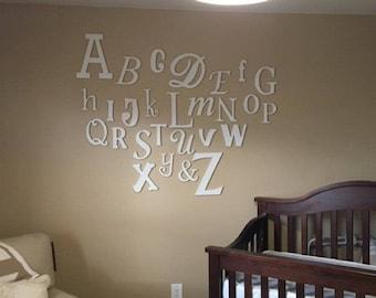 letras de pared colgante de pared madera alfabeto letras de madera decoracin