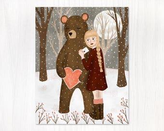 valentine bear postcard