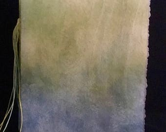 """Decoupaged Covered, Hand-Bound, Blank Watercolor Paper Journal 6""""x 4.5"""""""