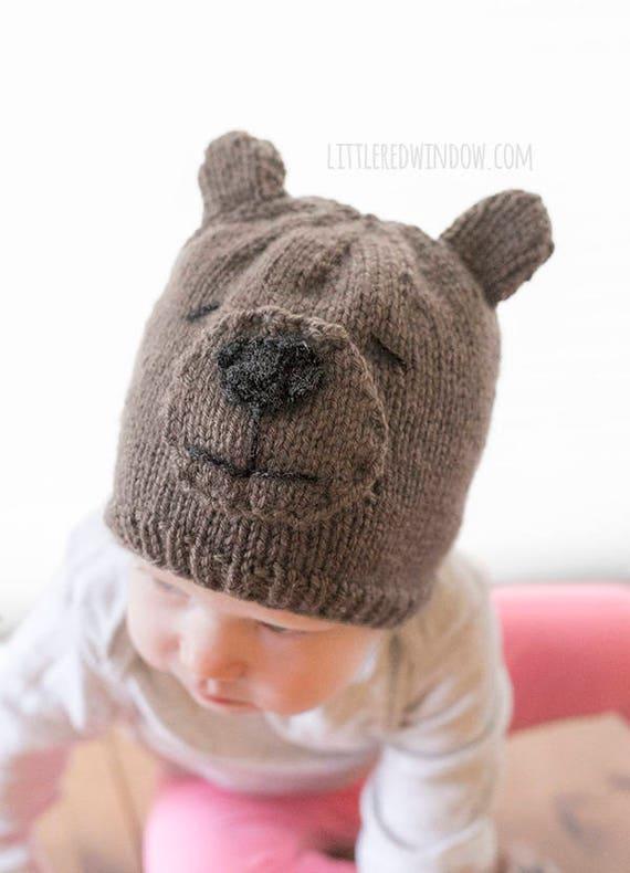 Teddy Bear Hat Knitting Pattern Bear Hat Patternbaby Teddy Bear