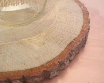 13 Wood Slices Centerpiece, Wedding Rustic Wood Centerpiece,  Wood Slices