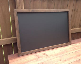 "Large 36"" x 48"" Rustic Framed MAGNETIC Chalkboard, Rustic Wedding Chalkboard, Kitchen Menu, Menu Board, Rustic Frame"