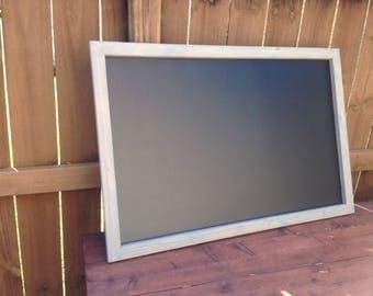 "Large 36"" x 60""  Rustic Framed Chalkboard, Rustic Wedding Chalkboard, Kitchen Menu, Menu Board, Rustic Frame"