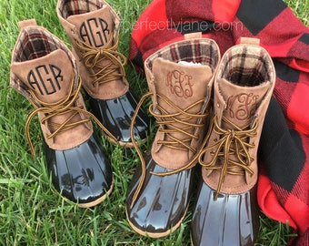 IN STOCK! Monogrammed Duck Boots   Perfectly Jane