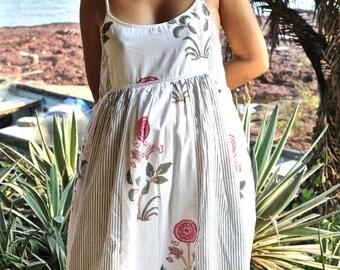 Cotton summer dress - beach dress, maternity dress, resort wear