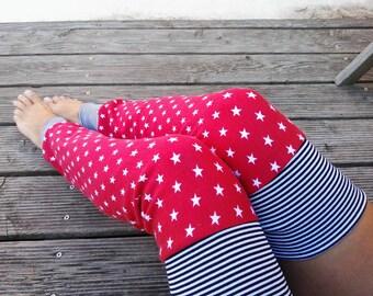 Leg warmers leggings Yoga warmers thigh Red Star