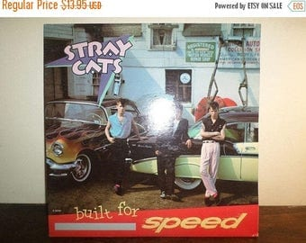 Save 30% Today Vintage 1982 Vinyl LP Record Stray Cats Built for Speed Excellent Condition 10225