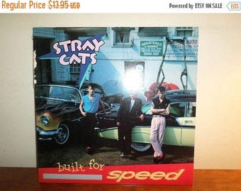Save 30% Today Vintage 1982 Vinyl LP Record Stray Cats Built for Speed Near Mint Condition 12365