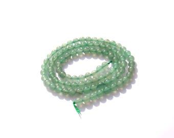 Multicolored green aventurine: 10 beads 4 mm in diameter