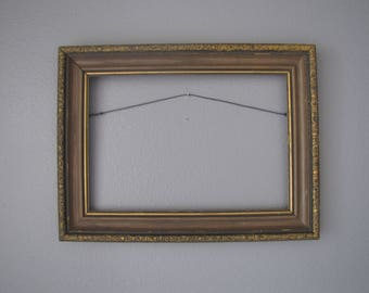 vintage ornate solid wood picture frame antiqued gold wood frame wall decor wedding - Decorate Mirror Frame