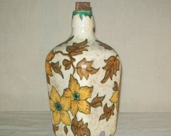 Gouda TRESO Pottery Holland Bottle with Cork Stopper