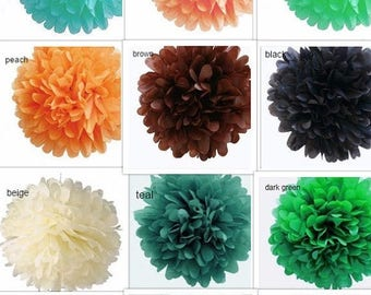 STOP N SAVE 20% 8'Tissue Pom Poms many color available