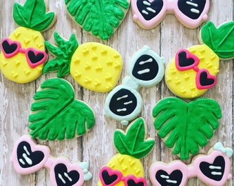 Summer/ pineapple party cookies sugar