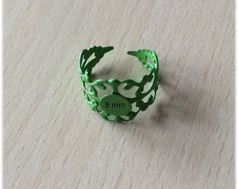 support adjustable filigree ring on finger size
