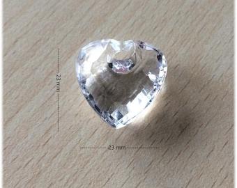 Tassel / large 23 x 23 mm acrylic heart