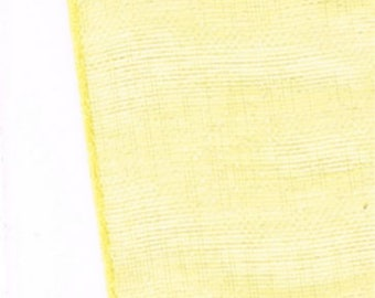 light and translucent yellow chiffon Ribbon