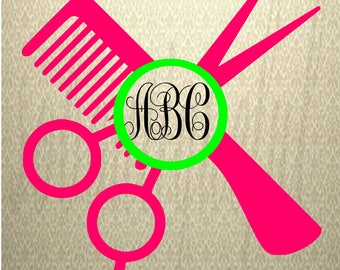 Hairdresser SVG Cut Files, Hairstylist SVG, cut files for Cricut, svg files, Monogram frames svg, svg files