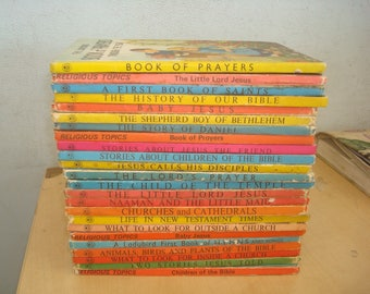 Set of 24 Ladybird Religion Books.  Mostly Good-VG condition